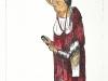 St Tweetus. Hand coloured drypoint.