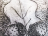 Acorn print with workshop at Manchester Museum with Alan Birch.