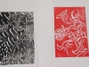 Alan Birch art workshop, relief printing.