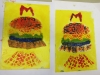 2 Collographs with rollover . Alan Birch print workshops in school.