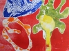 colour relief print inspired by Matisse cut outs.