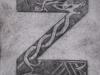 Letter Z based on viking jewellery designs.