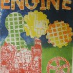 Relief print based on screen prints of Eduardo Paolozzi