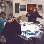 Studio print class at Prospect Studio, Waterfoot.