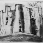 Metallic card drypoint at Whitworth with adults