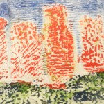 Collograph print inspired by John Piper