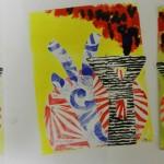 Year 3 pupils workshop print
