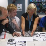 Pupils at work with Alan Birch