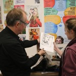 Print workshop at St Mary' s Catholic High School with Alan Birch