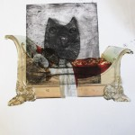 Owl and collage with Alan Birch.