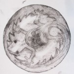 Circular intaglio plates from Cheadle Hulme High School. Working with Alan Birch inspired by the work of Cornelia