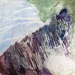 landscape collograph Carloyn