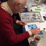 Printing workshop with Alan Birch.