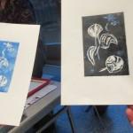 Alan Birch printmaking at Whitworth.