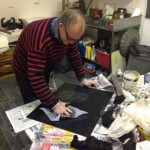 Alan Birch inking plate.