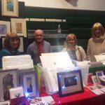 Members iof Alan Birch print class sell their work.
