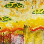 landscape collograph