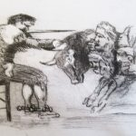 #alanbirch #printmaking #drypoint #goya #whitworth #printworkshop