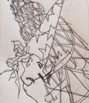 intaglio print with Alan Birch
