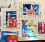 # primary school workshops #alanbirch #year 4 printing #lancashire printing.