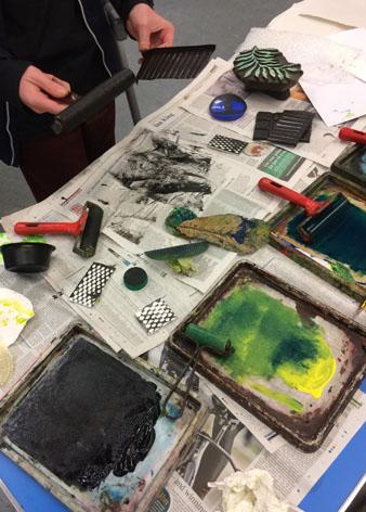 #recycled printing#printmaking#alanbirch#workshops# schools workshops# print # schools sessions.