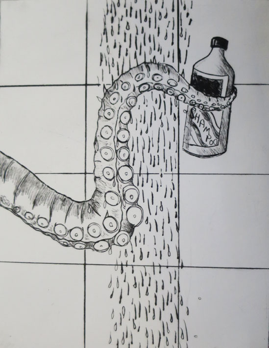 #alanbirch #etchings #humour #prospect studio #kraken wakes.