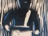 Year 8 lino cuts folk characters. Fred Longworth HIgh School.
